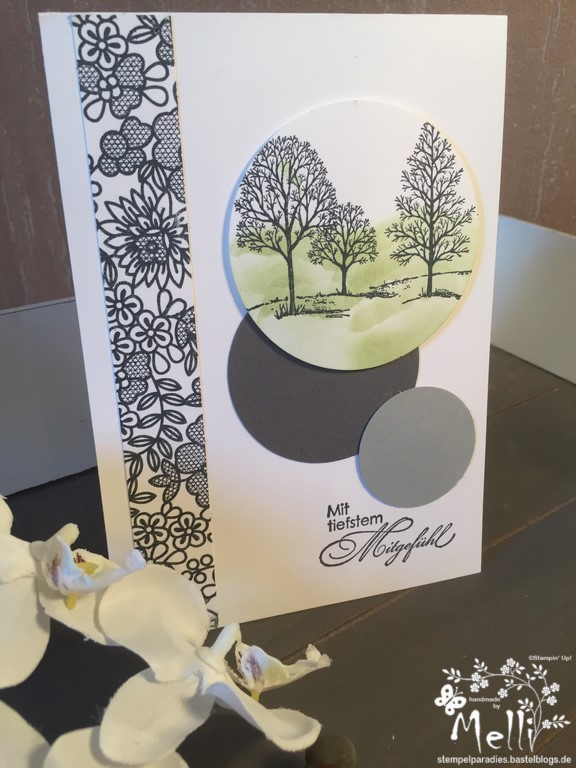 Stampin Up, Trauerkarte, Something Lacy, Lovely Trees (2) (Kopie)