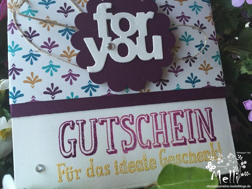 Gutscheinkarte, Stampin Up, DSP Boheme (2)