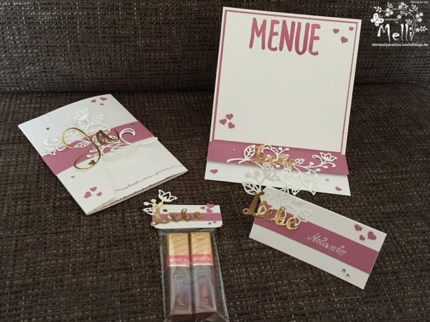 Stampin Up, Hochzeit, Einladung, Karten, Tischkarte, Menü, Mellis Stempelparadies, Zarte Pflaume (6)