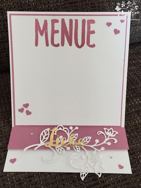 Stampin Up, Hochzeit, Einladung, Karten, Tischkarte, Menü, Mellis Stempelparadies, Zarte Pflaume (8)