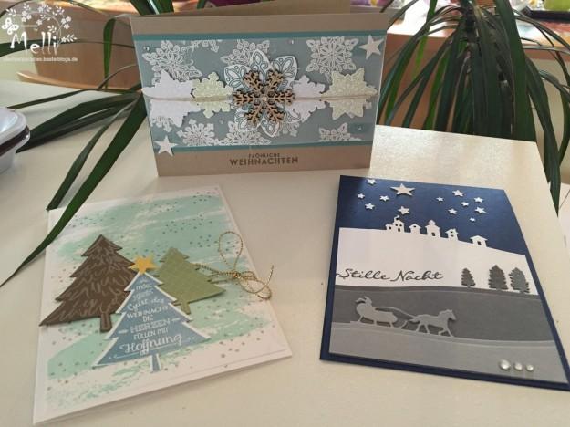 Stampin Up, Weihnachtskarten, Schlittenfahrt, Flockenzauber (Kopie)