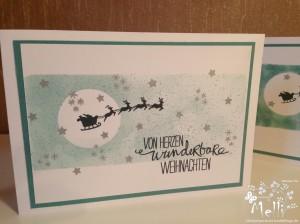 Weihnachtskarte mit Stampin' Up!
