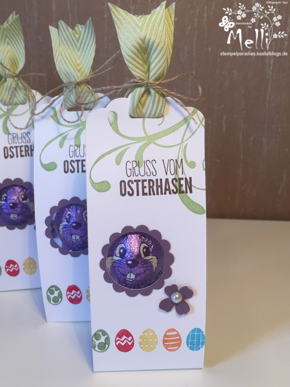 Stampin Up Osterverpackung Milka Hase1