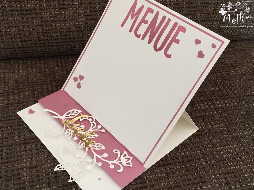 Stampin Up, Hochzeit, Einladung, Karten, Tischkarte, Menü, Mellis Stempelparadies, Zarte Pflaume (9)