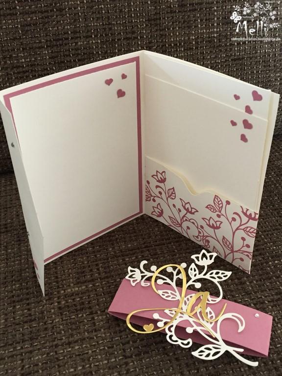 Stampin Up, Hochzeit, Einladung, Karten, Tischkarte, Menü, Mellis Stempelparadies, Zarte Pflaume (5)