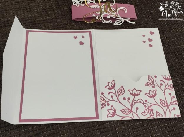 Stampin Up, Hochzeit, Einladung, Karten, Tischkarte, Menü, Mellis Stempelparadies, Zarte Pflaume (2)