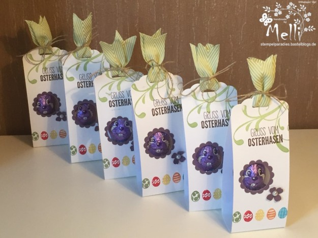 Stampin Up Osterverpackung Milka Hase