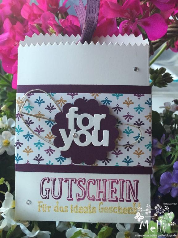 Gutscheinkarte, Stampin Up, DSP Boheme (1)